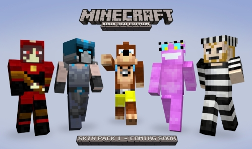 More Minecraft: Xbox 360 Edition Skins Revealed | King ...