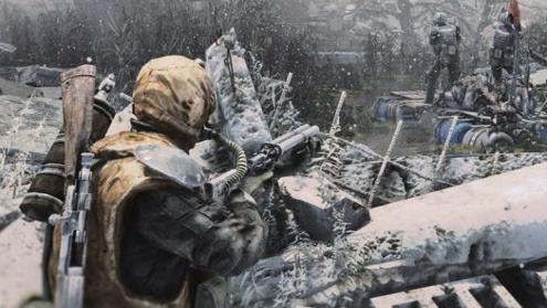 Nuclear radiation snow.