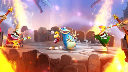 Party down with Rayman and friends.