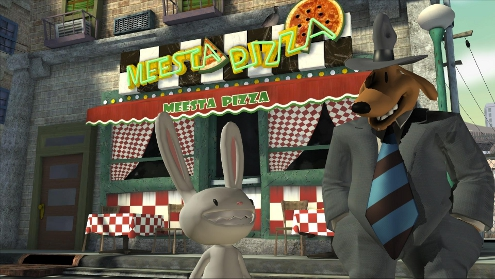 Sam & Max's local pizza place.