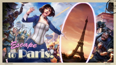 The 2013 Steam Summer Getaway Sale - Bioshock Infinite Background and Post Card