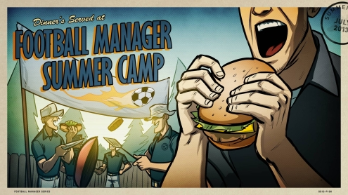 The 2013 Steam Summer Getaway Sale - Football Manager Background and Post Card