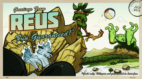 The 2013 Steam Summer Getaway Sale - Reus Background and Post Card