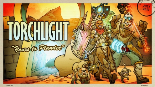 The 2013 Steam Summer Getaway Sale - Torchlight II Background and Post Card