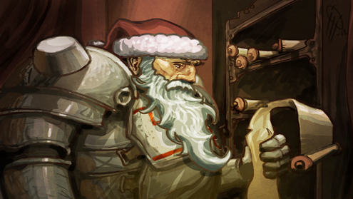 He's making a list, And checking it twice.