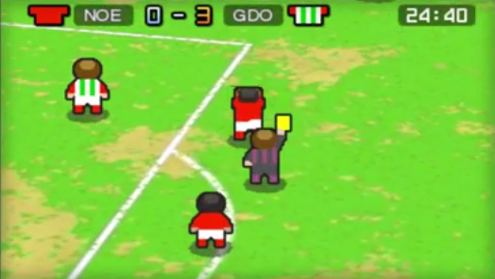 Is Nintendo Pocket Football Club a play on, a yellow card or a red card?
