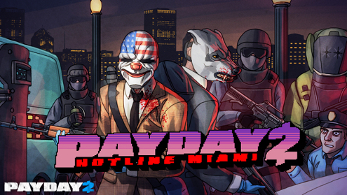 This Payday 2 art is pretty bad compared to the original Hotline Miami one.