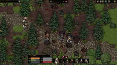 The combat screen where tactics and line of sight and height matter.