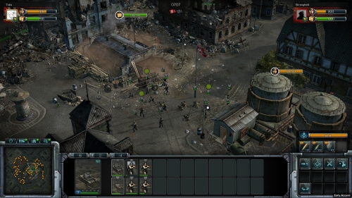 The game looks and play like the old Blitzkrieg games.