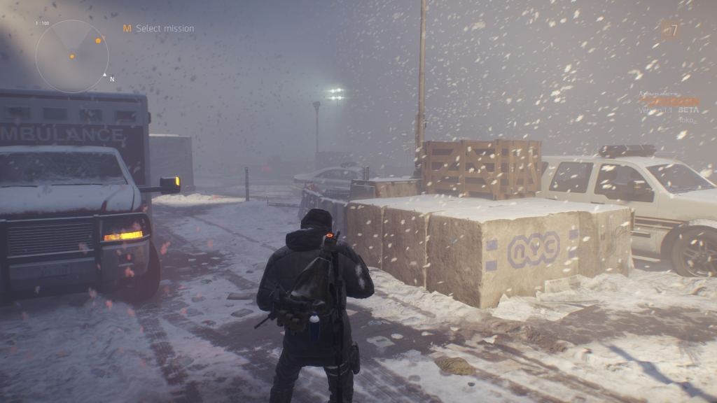 When I came out of my home base into this snow flurry was amazing.