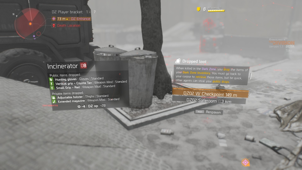 Accidently becoming a rogue agent is major flaw in the Dark Zone.