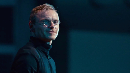 Michael Fassbender as Steve Jobs who was Elliot Carver.
