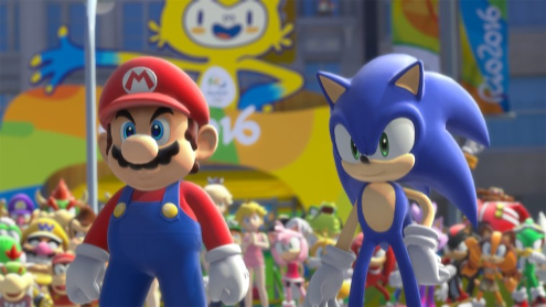 Mario & Sonic sports games where everyone takes performance enhancers.